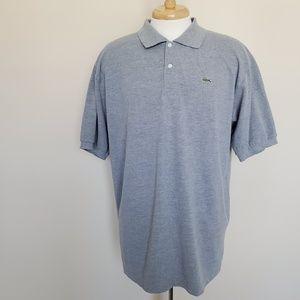 Lacoste Size 8 Polo Gray Grey XXL 2XL Short Sleeve